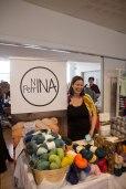 Nina Petrina hadde både workshop og stand på markedet